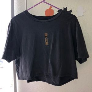 Chinese lettering crop top